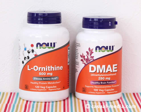 アイハーブのオルニチンとDMAEのサプリメント