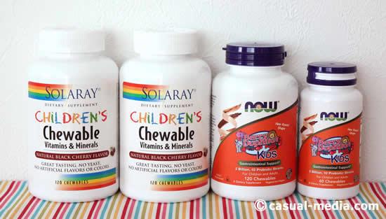 アイハーブ(iHerb)の子供用マルチビタミン&ミネラルやプロバイオティクス乳酸菌サプリ