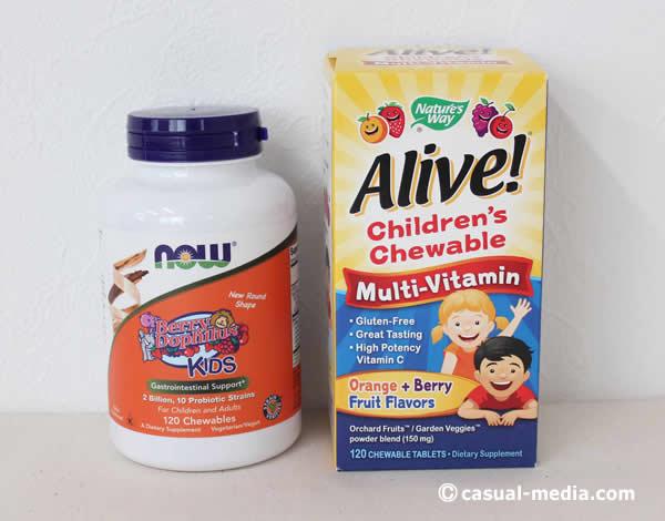 アイハーブ子供用サプリメント マルチビタミン&ミネラル、プロバイオティクス乳酸菌