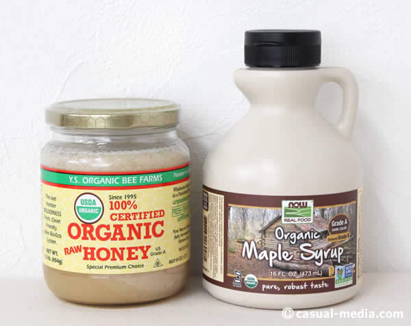 アイハーブのオーガニックな生蜂蜜&オーガニックメープルシロップ