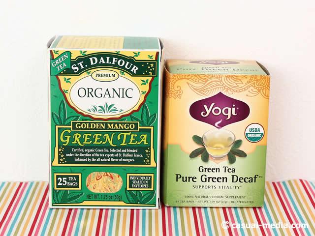 アイハーブ デカフェ緑茶やマンゴー緑茶