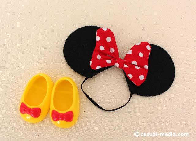 ソランちゃん ミニーちゃんの耳と靴