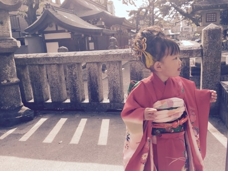 七五三3歳女の子 着物のイメージ画像