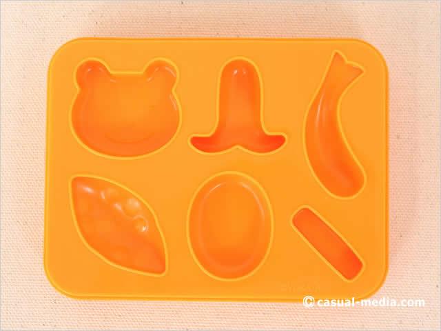 ねんDo! ねんどでおべんとうセットの片面抜き型 オレンジ