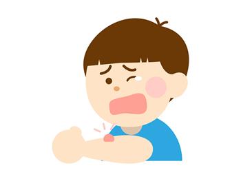 虫に刺された子供