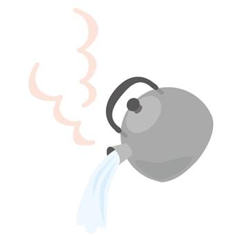 熱湯消毒のイメージイラスト