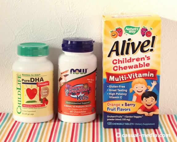 アイハーブの子供用サプリメント マルチビタミンやDHA/EPA、プロバイオティクス乳酸菌