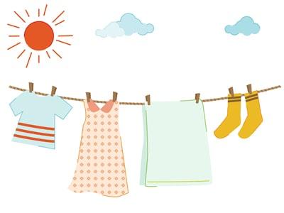 洗濯ものを干しているイメージ