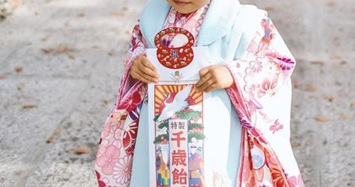 七五三3歳女の子のイメージ画像