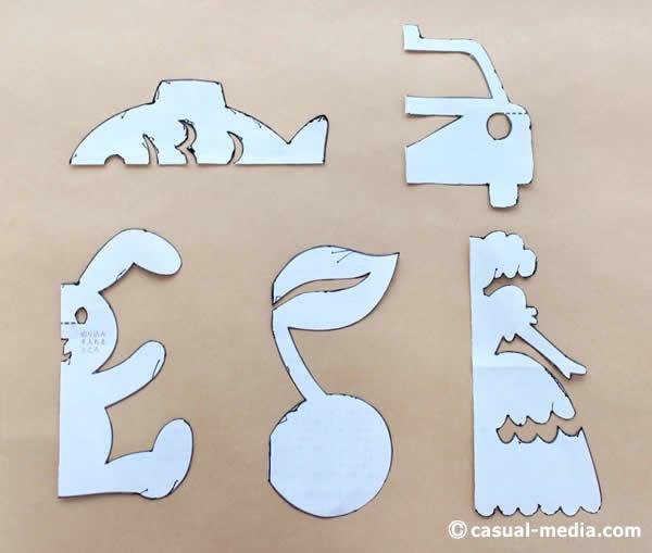 切り絵・切り紙の型 モンテッソーリの紙あそび