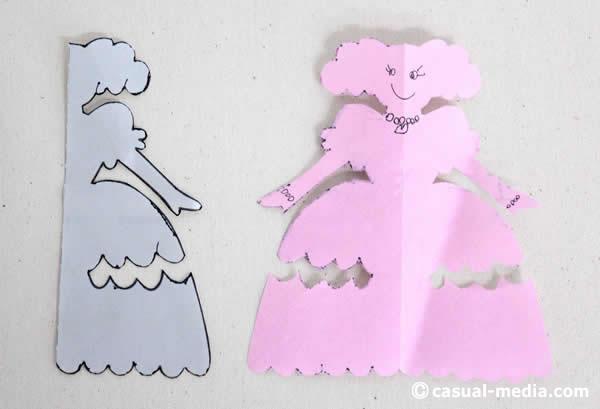 切り絵・切り紙 お姫さま プリンセス