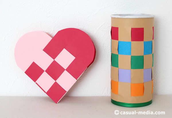 ハートバッグや格子編み(モンテッソーリ)に挑戦!折り紙や画用紙での作り方