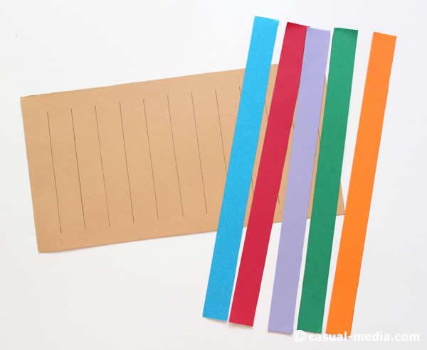 モンテッソーリの格子編み(市松模様あみ)を画用紙で作ってみた